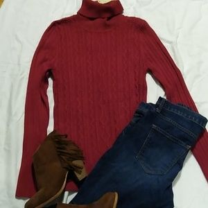 Perfect red color sweater for fall 😍...